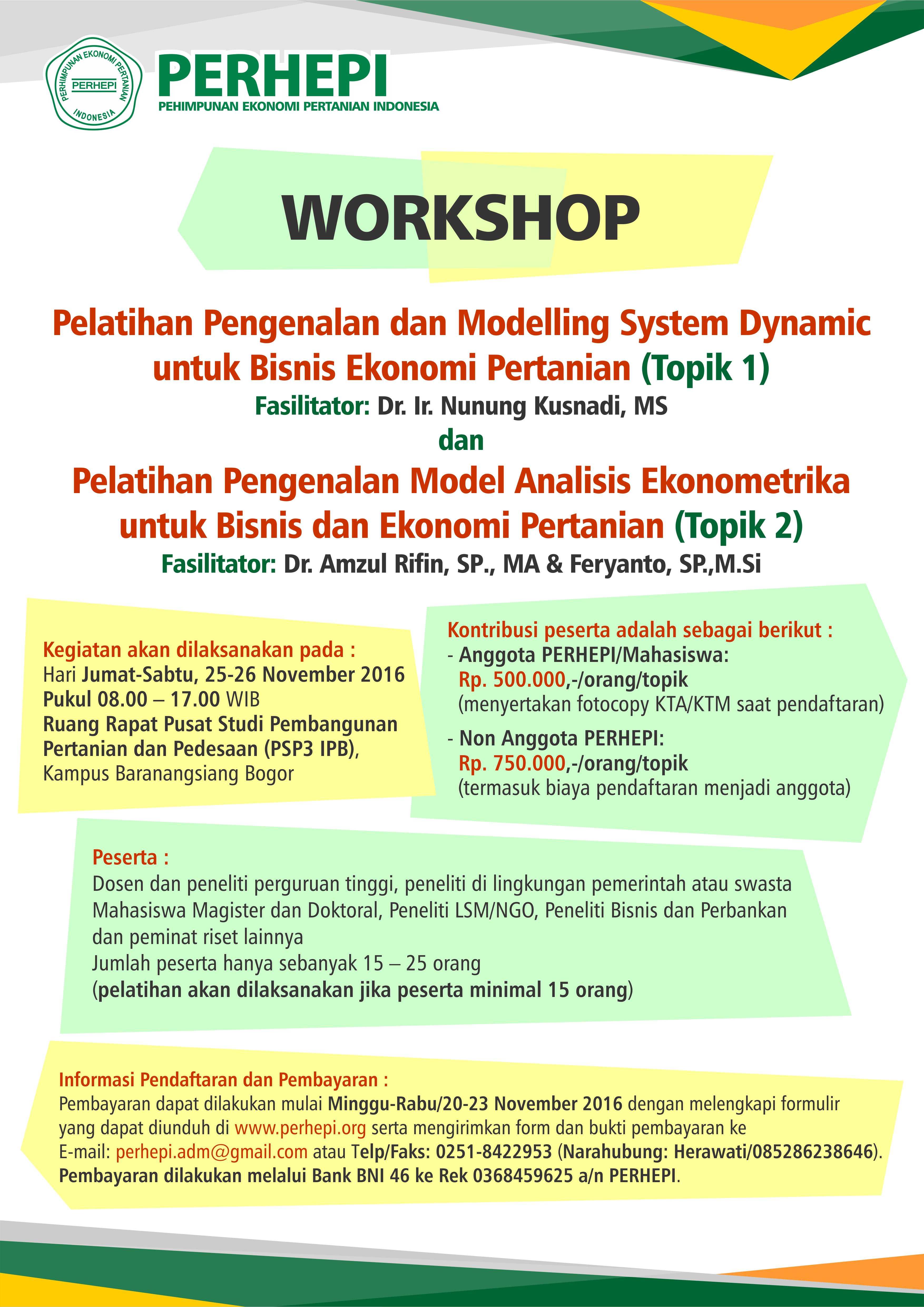 Ekonometrika Archives Perhimpunan Ekonomi Pertanian Indonesia